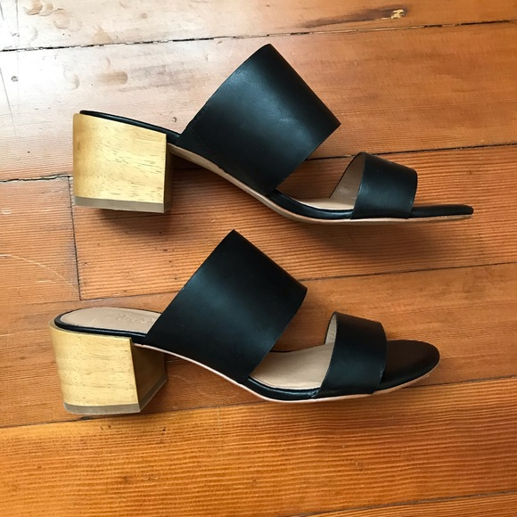 1d363777e0b Madewell Shoes - NEW! Madewell black leather Kiera mule sandal heel